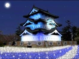 弘前城ライトアップ01