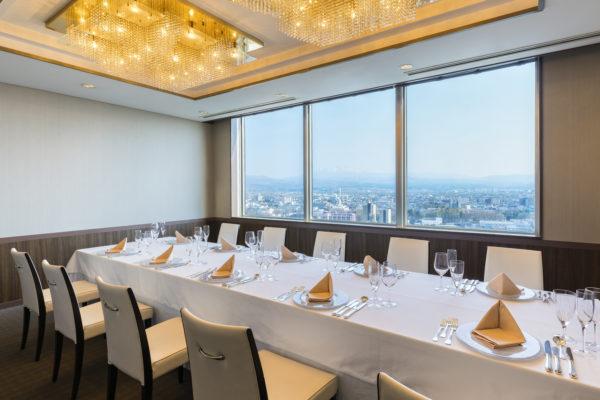17階レストランの個室
