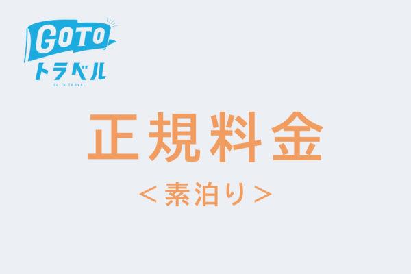 <GoToトラベル対象>正規料金(素泊り)